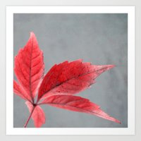 pink autumn Art Print
