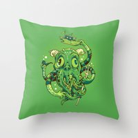 Sir Charles Cthulhu Throw Pillow