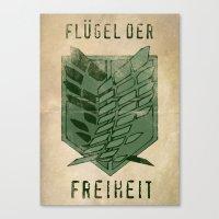 Flugel Der Freiheit - At… Canvas Print