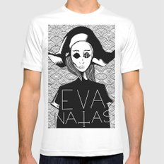 eva natas Mens Fitted Tee SMALL White