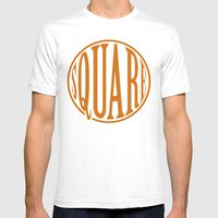 Dont Be A Square Mens Fitted Tee White SMALL