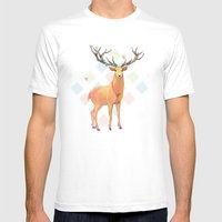 Deer And Diamonds Mens Fitted Tee White SMALL