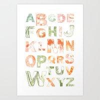 Animal Alphabets Art Print