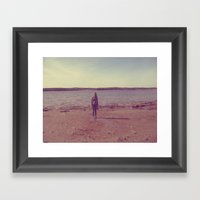 A Day At The Lake Framed Art Print