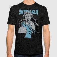 Luke Skywalker Mens Fitted Tee Tri-Black SMALL