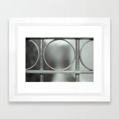 Through the gate Framed Art Print