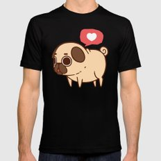 Puglie Heart SMALL Black Mens Fitted Tee