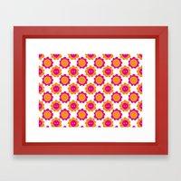 Button Flowers Framed Art Print