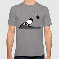 Pigeon and head Mens Fitted Tee Tri-Grey SMALL
