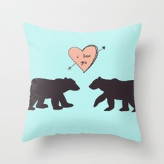 Polar Bear Love Throw Pillow