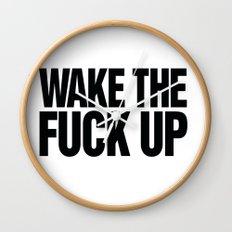 Wake the Fuck Up Coffee Mug  Wall Clock