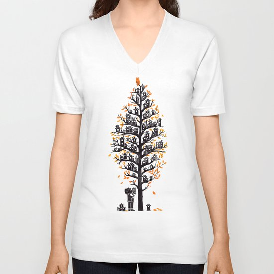 Hoot Lodge V-neck T-shirt