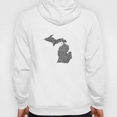 Typographic Michigan Hoody