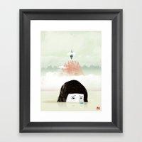 Girl Mountain Framed Art Print