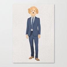 Posing Poodle Canvas Print