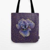 Iris Drawing Meditation Tote Bag