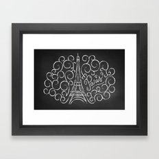 Paris Sketch Framed Art Print