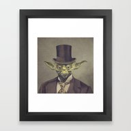 Sir Yodington (square Fo… Framed Art Print
