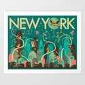 WILD NEW YORK Art Print