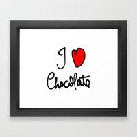 i love chocolate Framed Art Print