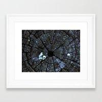 Wood post texture Framed Art Print
