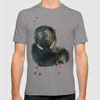 UNREAL PARTY 2012 THE AMAZING SPIDEY SPIDERMAN Mens Fitted Tee Athletic Grey SMALL