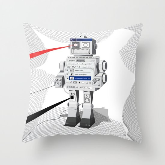 Photobot Throw Pillow