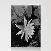 b&w water flower Stationery Cards