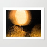 Dark Night Amber Canvas Print