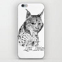 Iberian Lynx B/N iPhone & iPod Skin