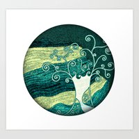 Dreamy Night Tree Art Print