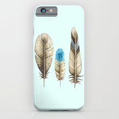 watercolor feathers (mint green) iPhone 6 Slim Case