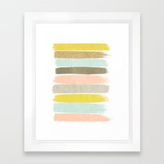 Madison - Brushstroke art print in modern colors bright and happy gifts for trendy girls Framed Art Print