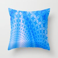 Patched. Throw Pillow