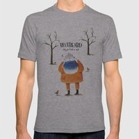 Bluebeard Mens Fitted Tee Athletic Grey SMALL