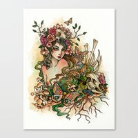 Life and Bones Canvas Print