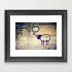 Urban Sheep Framed Art Print