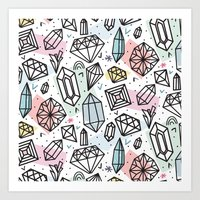 Gemstones Art Print