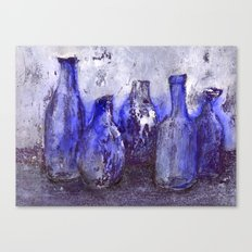blue bottles Canvas Print