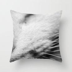 Listen up Meow Throw Pillow