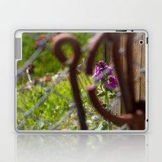 Iron and Purple Flowers Laptop & iPad Skin