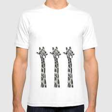 Funny Giraffe Mens Fitted Tee White SMALL