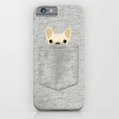 Pocket French Bulldog - Cream iPhone 6 Slim Case