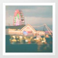 Let's Be Kids Again. Santa Monica pier ferris wheel  Art Print