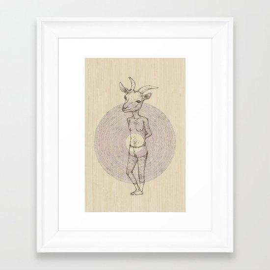 It's a Goat! Framed Art Print