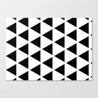 Sleyer Black On White Pa… Canvas Print