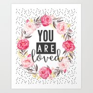 You Are Loved Watercolor… Art Print