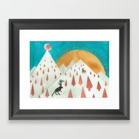Wendigo Framed Art Print