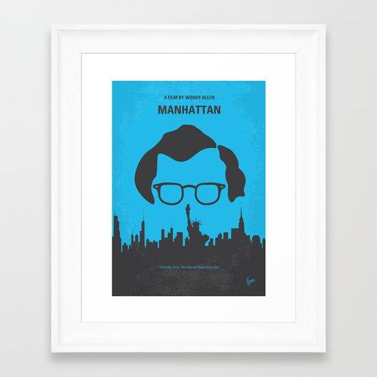 No146 My Manhattan minimal movie poster Framed Art Print