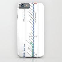 Twin Cities METRO Blue Line Map iPhone 6 Slim Case